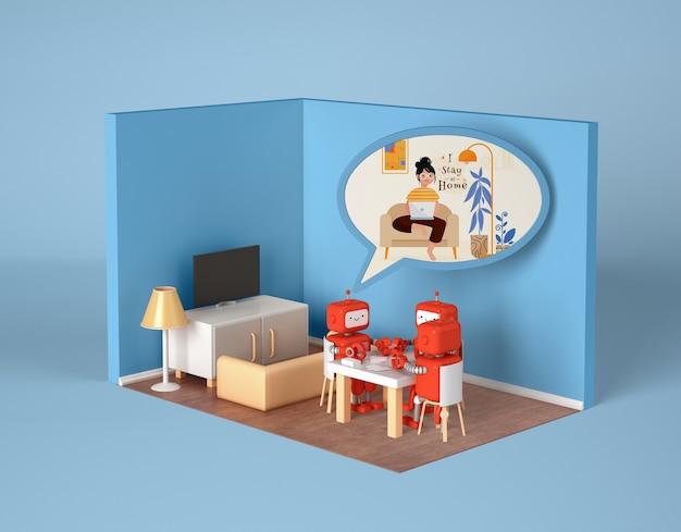 Robots socializing at home