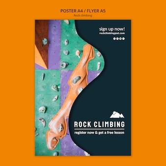 Modello del manifesto di arrampicata su roccia