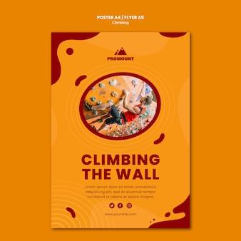 Modello di poster di arrampicata su roccia