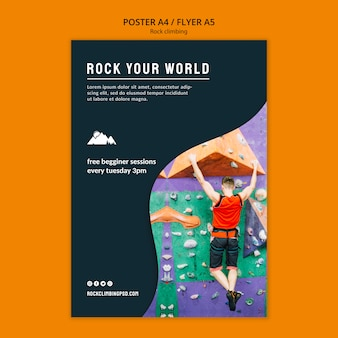 Rock your world poster template