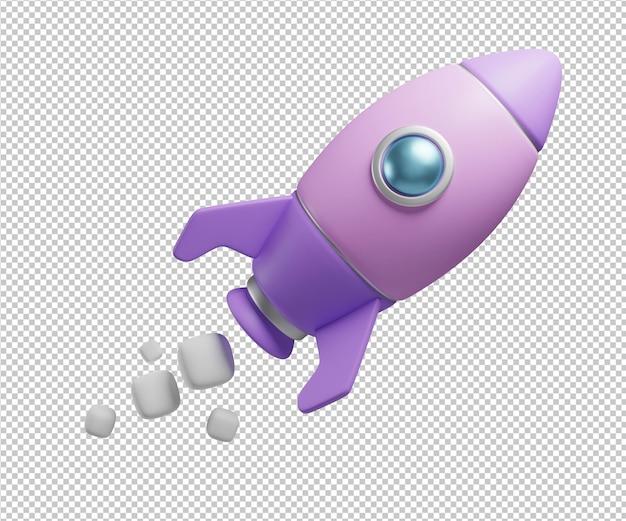 Ракета 3d иллюстрация