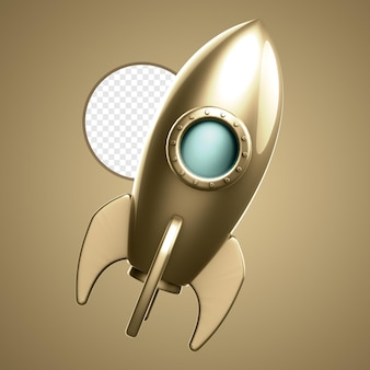 Rocket 3d isolated