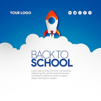 Rocket banner social media back to school