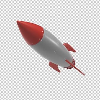 Запуск ракеты 3d-рендеринга