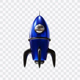 Запуск ракеты в 3d-рендеринге изолированы