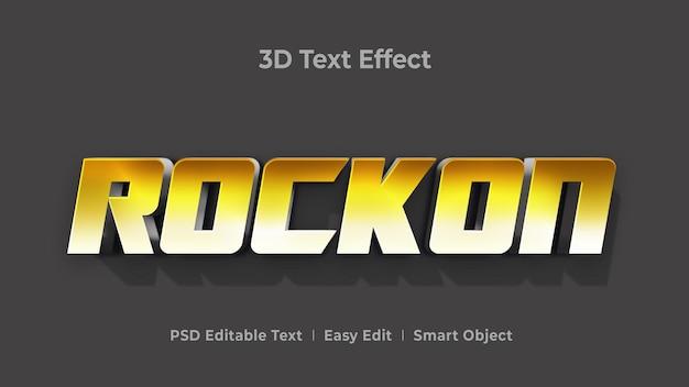 Шаблон эффекта стиля 3d-текста rockon