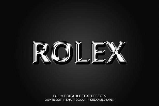 Rolex 3d style text effect