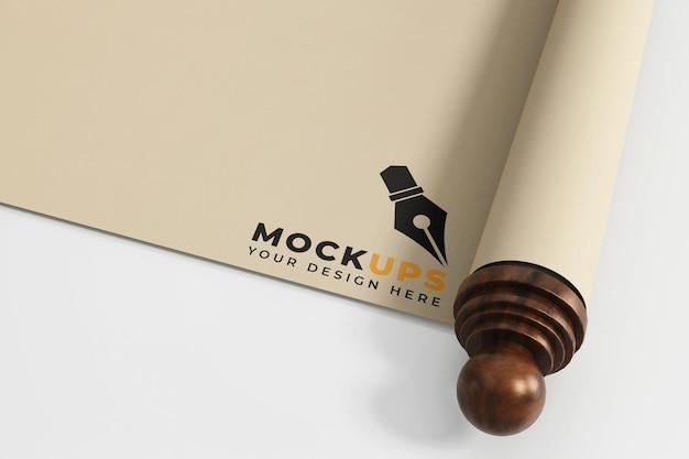 Roll paper mockup