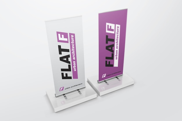 Roll up banners mockup