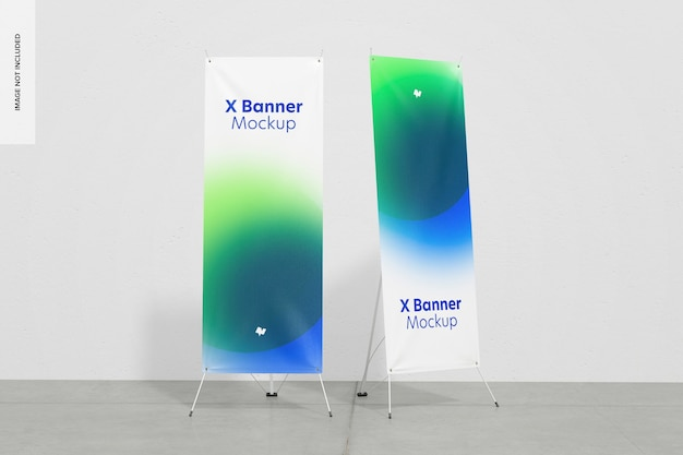 Roll-up or x-banners mockup