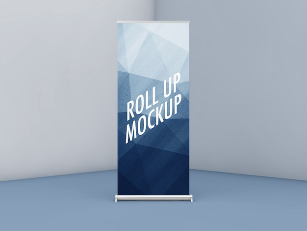 Roll up or xbanner mockup