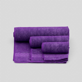 Rolled towel 3d isolated render