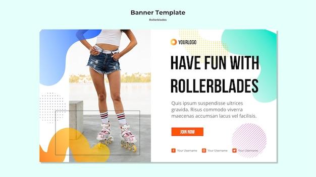Rollerblades 개념 배너 서식 파일