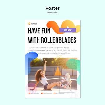 Rollerblades 컨셉 포스터 템플릿