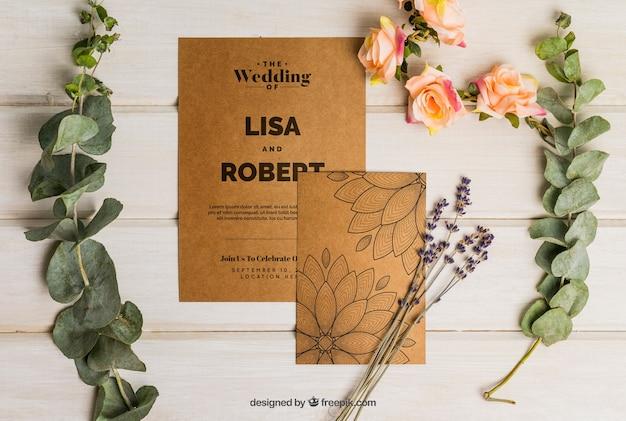 Романтический картонный свадебный набор