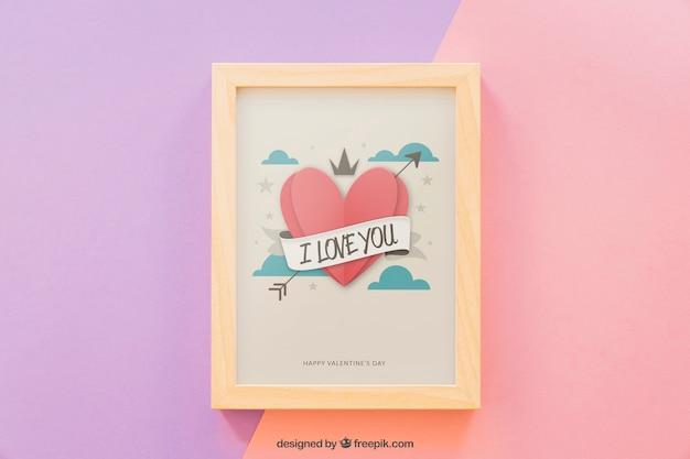 Romantic frame mock up