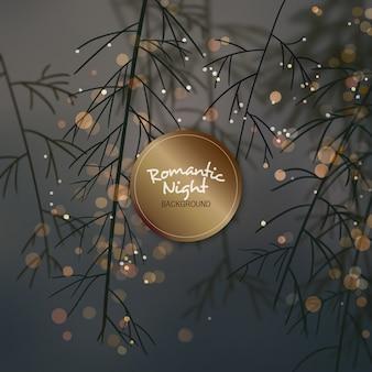 Romantic night background