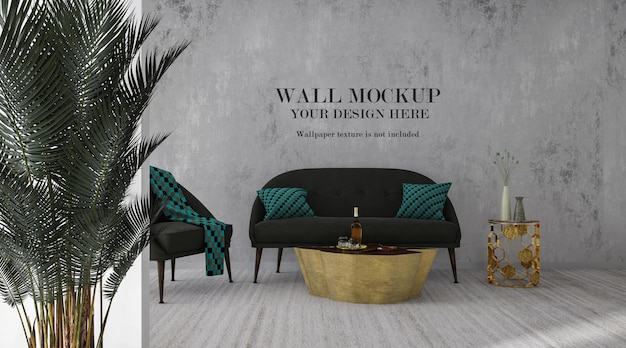 Room wall mockup for your design ideas