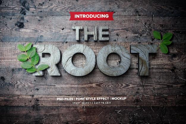 Root wood font effect