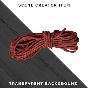 クリッピングパスで分離されたロープ。