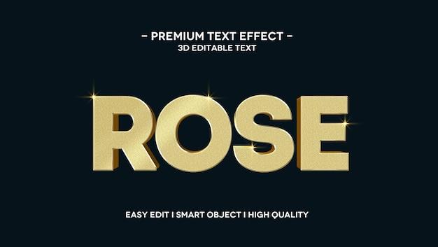 Rose 3d text effect template