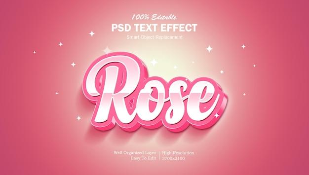 Сияющий редактируемый текстовый эффект в photoshop цвета розы