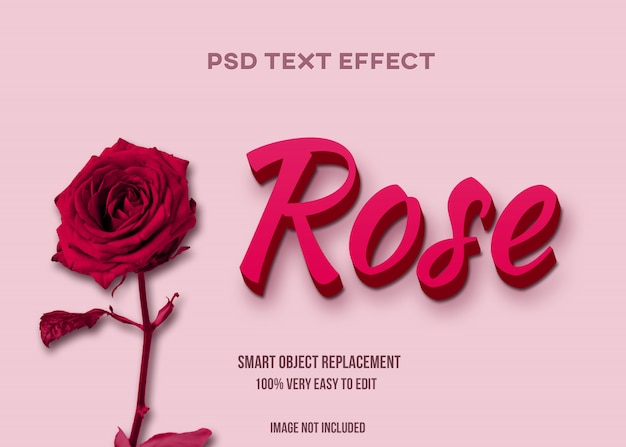 Rose text effect
