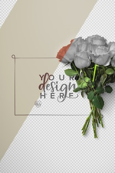 Фон с букетом роз