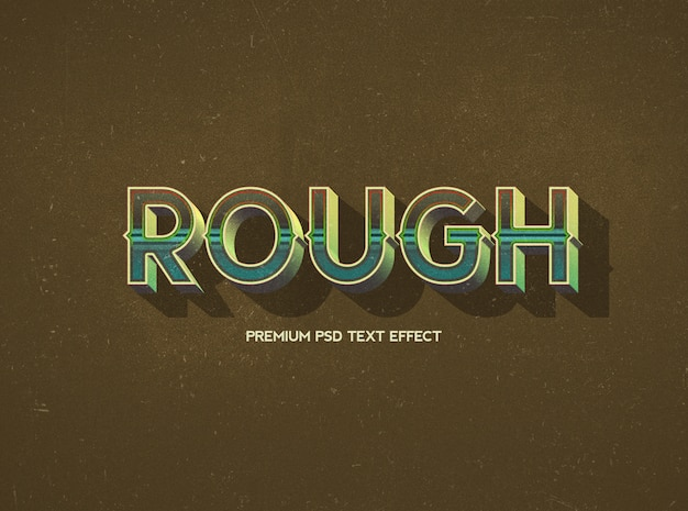Rough text effect template
