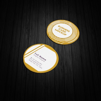 Round business card mock-up