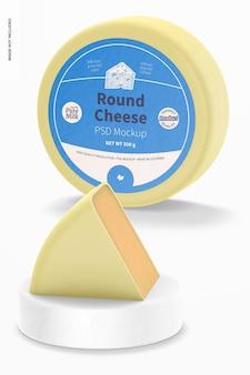 Round cheese mockup