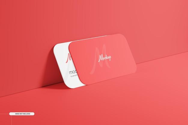 Round corner business card mockup