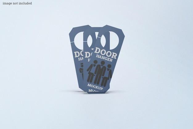Round door hanger mockup set