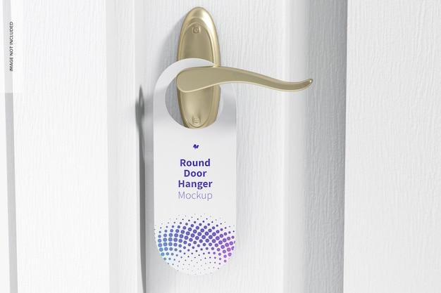 Round door hanger mockup