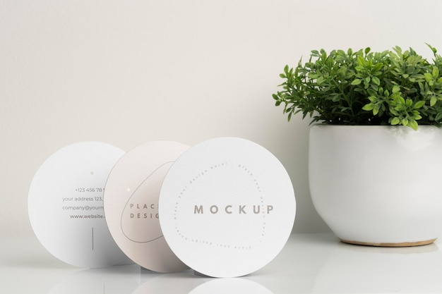 Round flyer mock-up arrangement