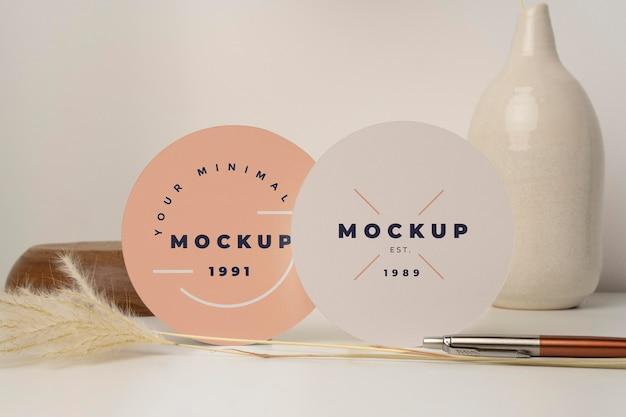 Round flyer mock-up assortment