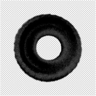 3dレンダリングで毛皮効果のある丸いフレーム