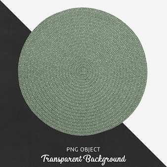 Round green textile service on transparent background