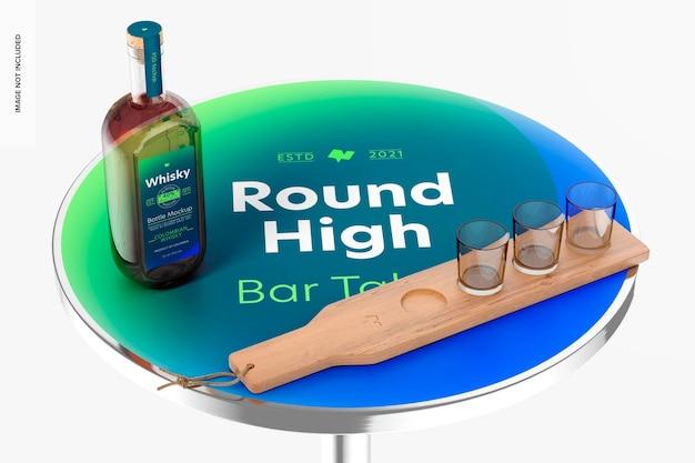 ラウンドハイバーテーブルモックアップ、上面図