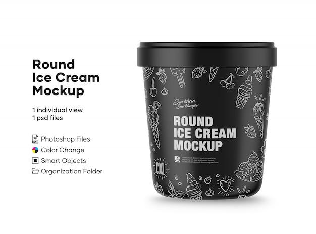 Round ice cream mockup