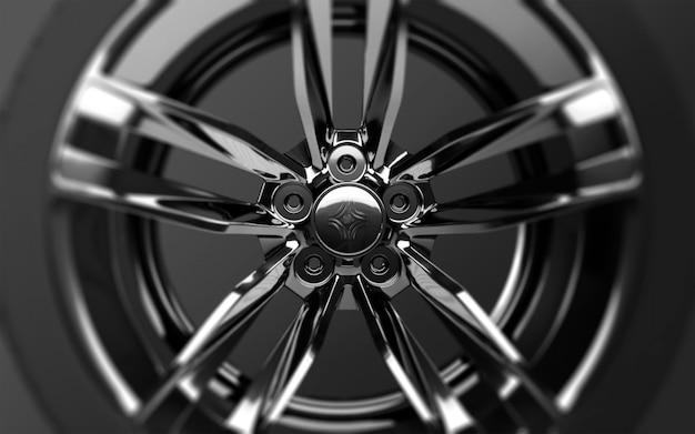 Round metallic rim