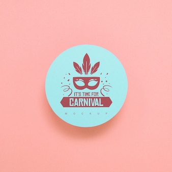 Round paper mockup with carnival concept