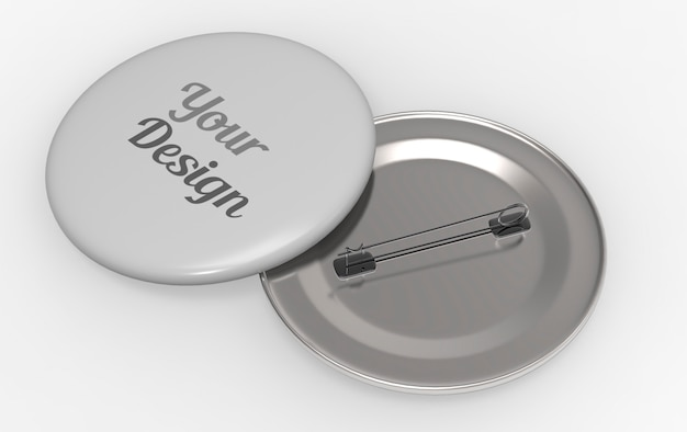 Round pin badge mockup