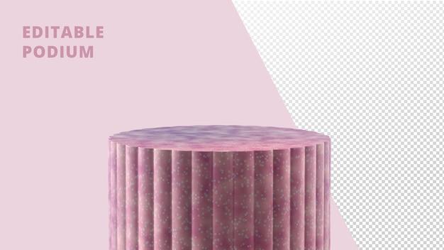 Круглый подиум в рендеринге в горошек