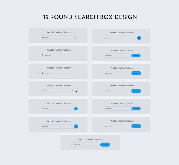 Round search web ui kit