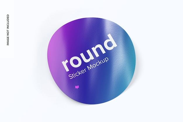 Round sticker top view