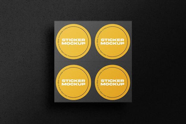 Round stickers set mockup
