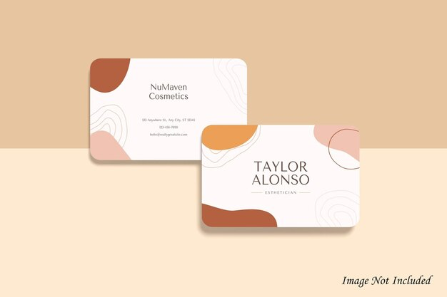 Rounded business card mockup design