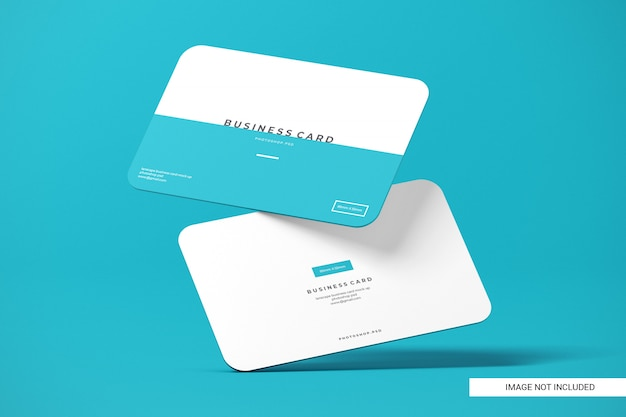 Rounded business card mockup