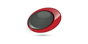 丸みを帯びたボタンロゴデザイン